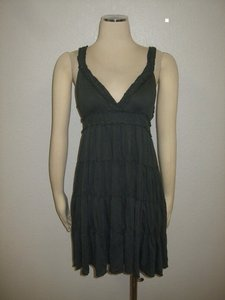 Anthropologie short dress Dark Grey on Tradesy