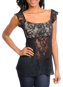 Windsor Lace Medium Top BLACK