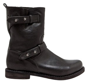 Rag & Bone Edgy Leather Moto black Boots