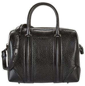 Givenchy Lucrezia Duffle Leather Satchel in Black