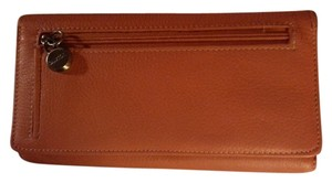 Buxton BUXTON LARGE LEATHER WALLET/ORANGE.