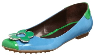 Sesto Meucci Patent Made In Italy Flower Cyan Flats