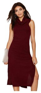 Maxi Dress by Nasty Gal Knit Burgundy Midi Fall