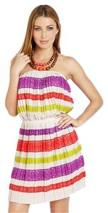 BCBGMAXAZRIA short dress RED Striped Mateo on Tradesy