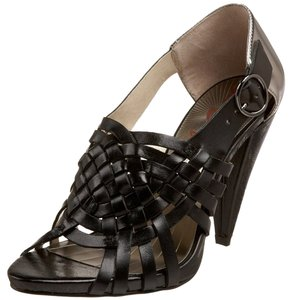 Miss Sixty Platform Leather Black/Silver Sandals