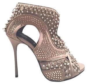 Philipp Plein Embellished Spike Studded Taupe Platforms