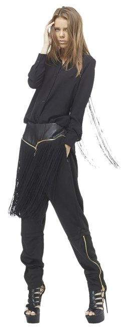 Item - Black Closet Cleaning | Next Day Shipping | Bombshell Fringe Pants Size 10 (M, 31)