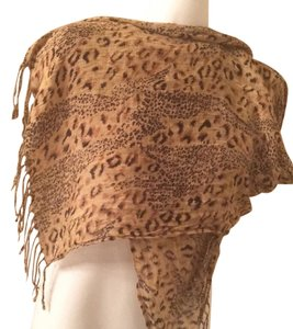 Animal Print Scarf With Fringe