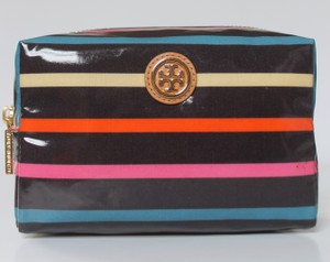 Tory Burch Tory Burch $78+TAX BRAND NEW WITH TAGS BRIGITTE MEDIUM COSMETIC BAG CLASSIC STRIPE MAKEUP CASE POUCH