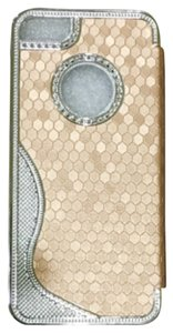 Inzengate Gold with silvet Synthetic leather Magnetic Flip Case Cover for iPhone 5/5s