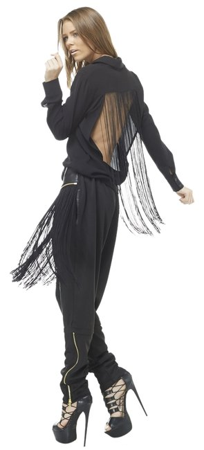 Item - Black Next Day Shipping | Bombshell Fringe Pants Size 12 (L, 32, 33)
