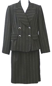 Alberto Makali ALBERTO MAKALI STRIPED DOUBLE BREASTED SKIRT SUIT 8