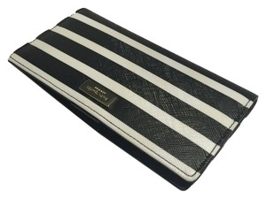 Kate Spade Newbury Lane Black Black/White Stripes Clutch