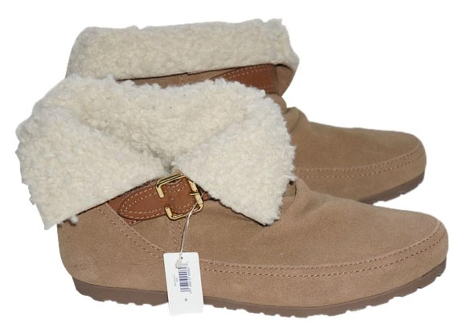 Gap Tan Fir Suede Lined Buckle Suede Fir Mocassin Boots/Booties c1e70f