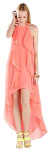 Pink coral Maxi Dress by BCBGMAXAZRIA