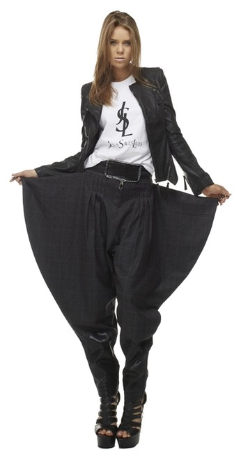 Item - Black Walker Night Pants Size 6 (S, 28)