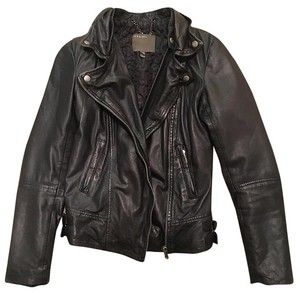 Muubaa Leather Fur Lambskin Motorcycle Jacket