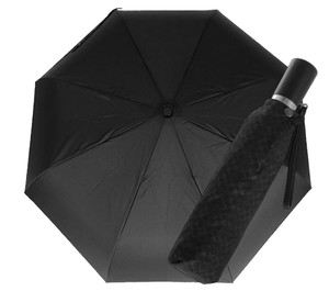 Coach COACH F68036 HERITAGE SIGNATURE RETRACTABLE UMBRELLA BLACK