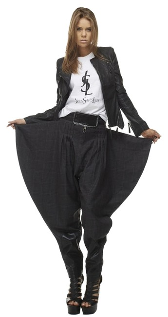 Item - Black Walker Night Pants Size 12 (L, 32, 33)
