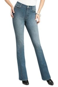 Jones New York Boot Cut Jeans-Light Wash