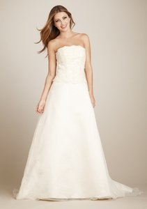 Private Collection A-line Organza Bustle Back Gown Wedding Dress