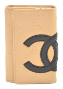 Chanel CHANEL CAMBON QUILTED LEATHER CARD AND KEY HOLDER