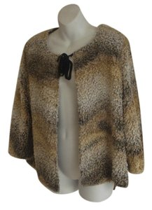 Misook Muted Animal Shades all neutral Jacket