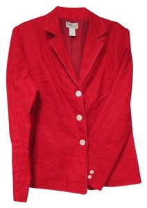 Other red with white stitching Blazer