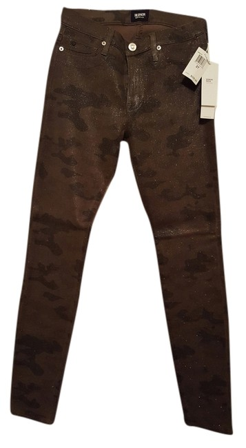 Item - Dark Green Camouflage with Gold Accent Medium Wash Mid-rise Nico Super Skinny Jeans Size 27 (4, S)