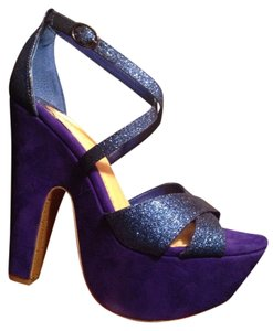 Gianni Bini Royal Blue Platforms