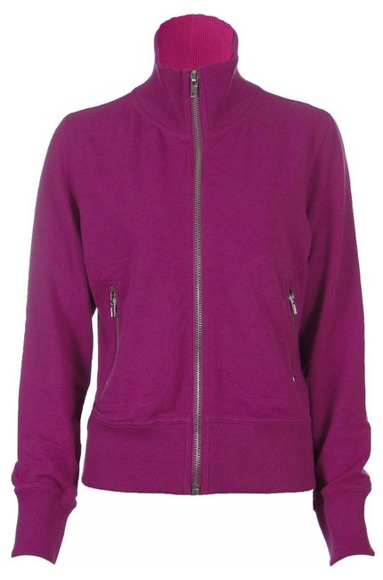 Preload https://img-static.tradesy.com/item/822032/sutton-studio-magenta-pink-women-s-terry-mock-neck-zip-up-lightweight-jacket-sweatshirthoodie-size-4-0-0-650-650.jpg