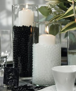 Lot Of 200g - 100g White + 100g Black Water Pearl Wedding Centerpiece Fill Out Vase Filler Plant Decoration