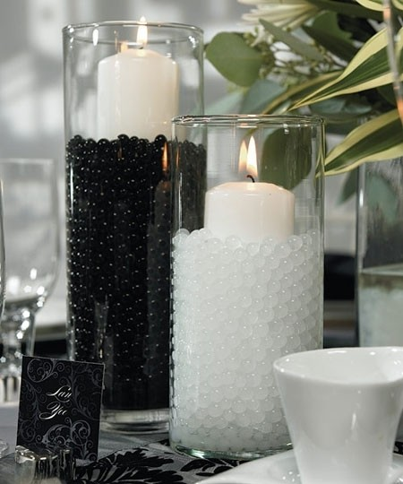 Black & White Lot Of 200g - + Water Pearl Fill Out Vase Filler Plant Centerpiece