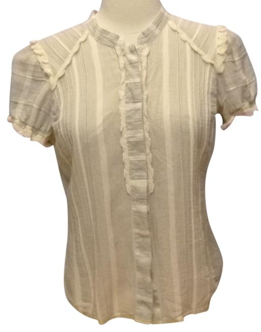Item - Oatmeal Casual Cotton Button-down Top Size 6 (S)