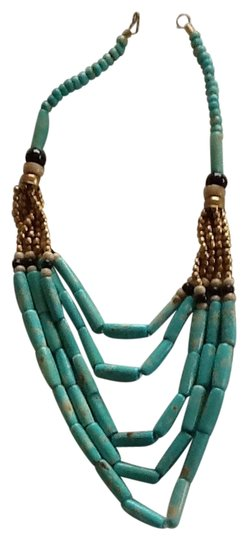 Other Turquoise Beaded With Brass Accents