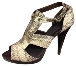Aldo Brown & Beige Snakeskin Pattern Sandals