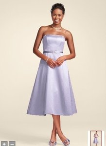 David's Bridal Other Iris Satin Strapless Belted Tea Length Style 8355 Dress