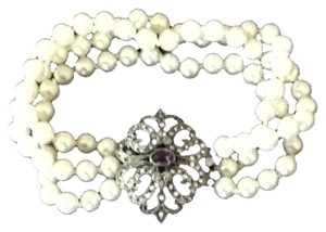 Other Purple & Rhinestone Pearl Bracelet