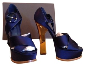 Louis Vuitton Blue Platforms