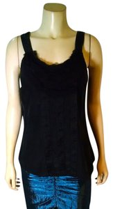 White House | Black Market Silk Size Medium Sleeveless P1814 Top black