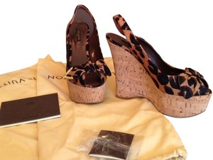 Louis Vuitton Leopard Wedges