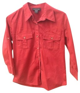 Harold's Button Down Shirt Brick Red