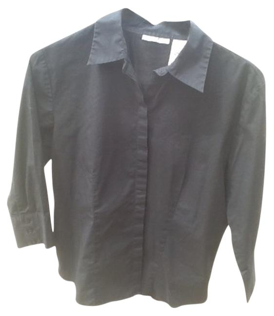 Rebecca Malone Button Down Shirt Black