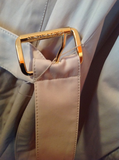 Michael Kors Brand New Without Tags Gold-tone Trim Extra Long Belt Tan Jacket
