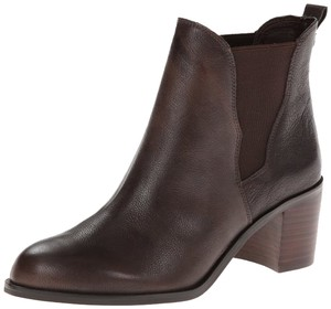 Sam Edelman Leather Chunky Chelsea Bootie Dark Brown Boots