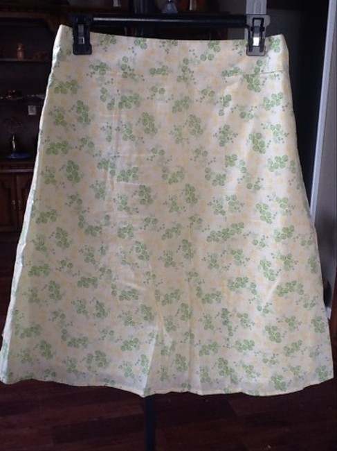 CATO Skirt White, Yellow, Green