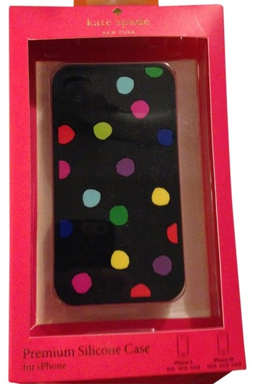 Kate Spade Kate Spade Multicolor Splodge Dots on Black case cover for iPhone 4/4S