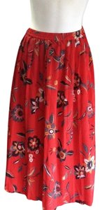 Alfred Dunner Size 24 Chinese Skirt red multi