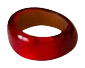 Unknown Clear plastic red cuff bracelet