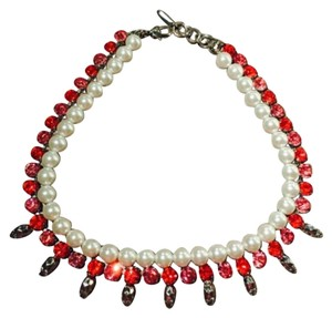 Joomi Lim Crystal with Skull & Pearl Necklace